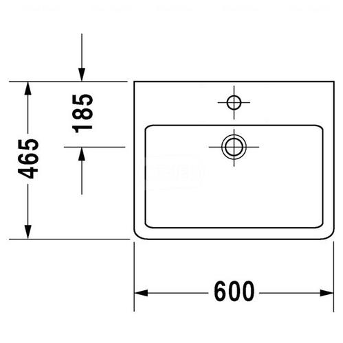 Умывальник медицинский Duravit Vero, 600x470 мм