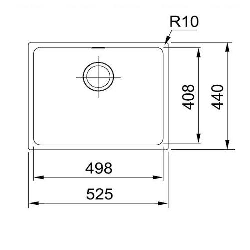 Кухонная мойка Franke Sirius Tectonite SID 110-50 черный черный