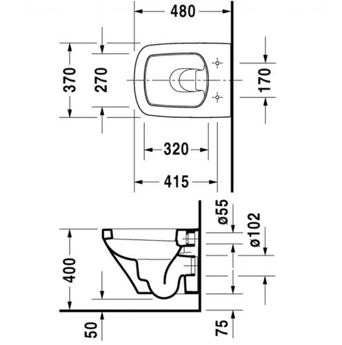 Унитаз подвесной Duravit DuraStyle 370х480 мм