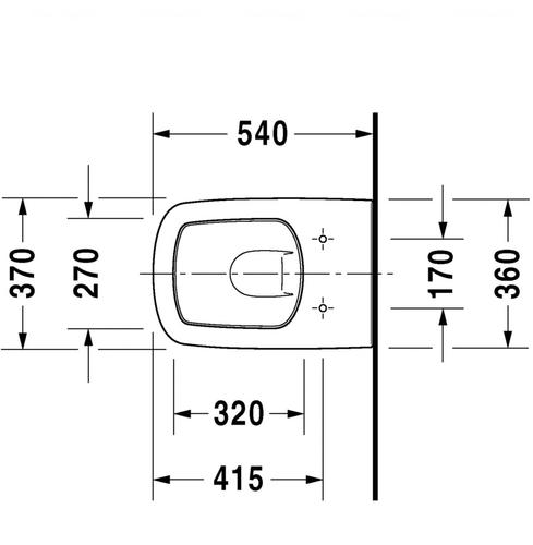 Унитаз подвесной Duravit DuraStyle 370х540 мм, без смывного края