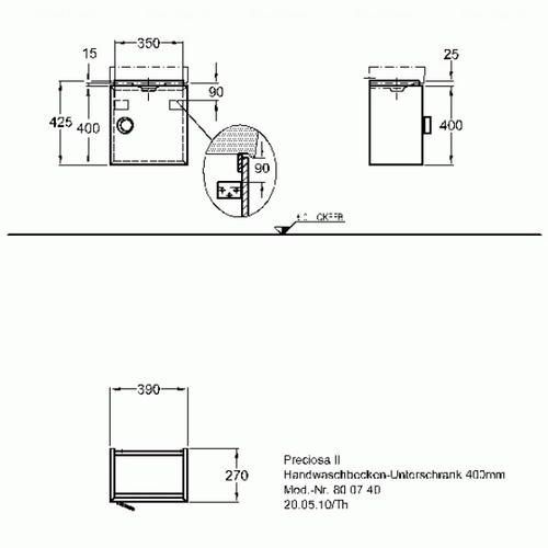 Тумба Keramag Preciosa II 368 мм