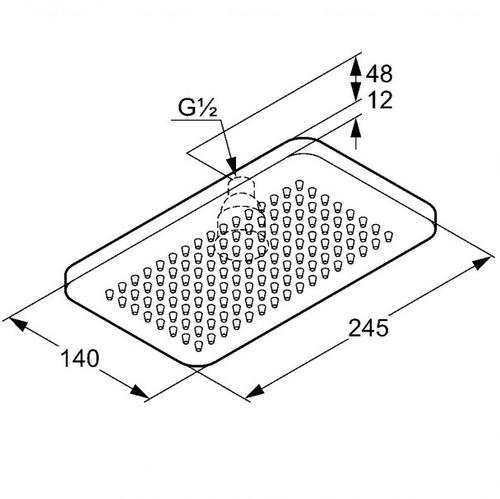 Потолочный душ Kludi A-QA, 140х245 мм (4940205-00)