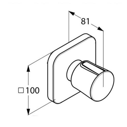 Запорный вентиль для душа Kludi E2 (498150575)