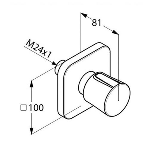Переключающий вентиль для душа Kludi E2, на 2 положения (498470575)