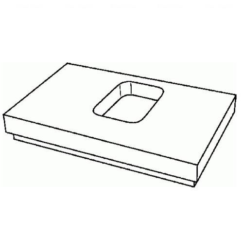 Столешница Keramag Silk 1000 мм белый глянец белый глянец