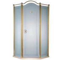 Душевая дверь Devit Charlestone, золото