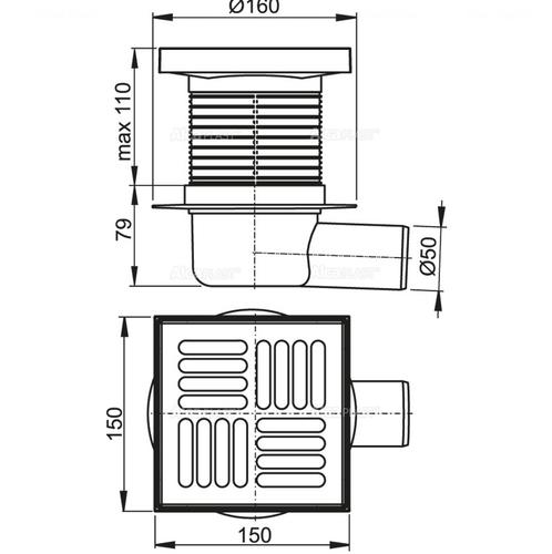 Сливной трап Alca plast APV5411