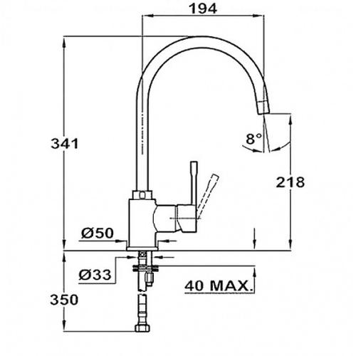 Смеситель для кухни Teka Alaior H SP 995 черный металлик черный металлик