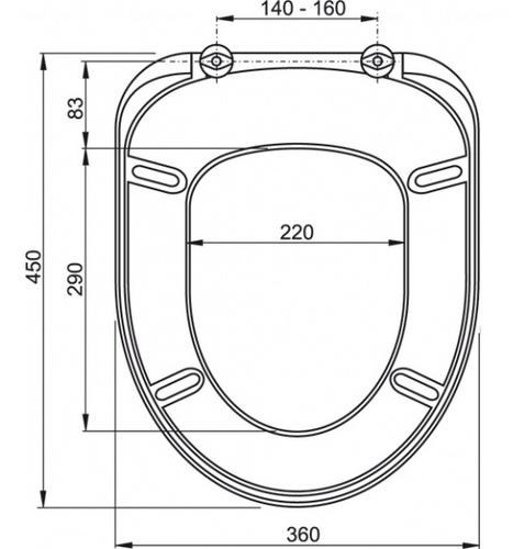 Сиденье для унитаза Alca plast A61