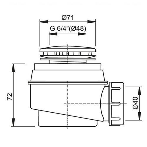 Сифон для ванны Alca plast, хромированный d50 мм, A47CRd50