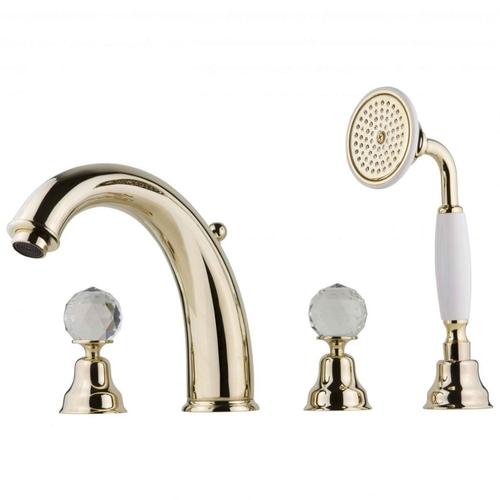 Смеситель для ванны и душа Devit Charlestone золото CN60026179G
