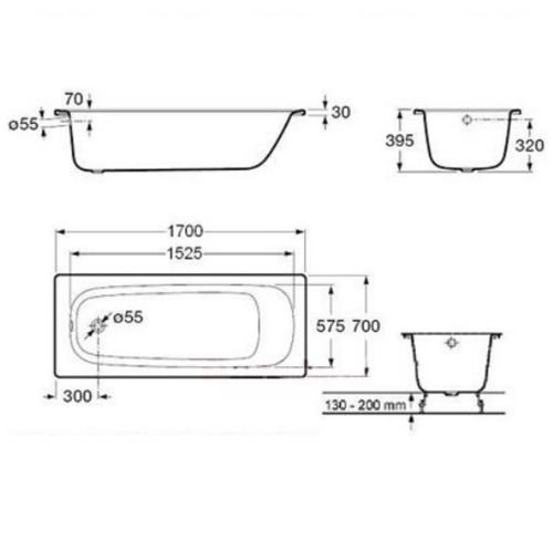 Ванна стальная Roca Contessa Plus 170 (A237760000)