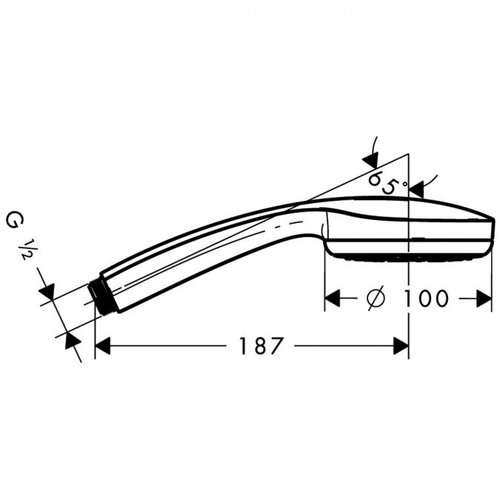 Ручной душ Hansgrohe Croma 100 Multi 3jet хром хром
