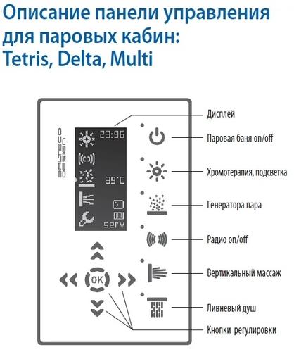 Паровая гидромассажная кабина Balteco Tetris S4 (угловая)