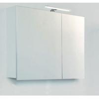 Шкафчик-зеркало Devit Graphics, белый 1000 мм