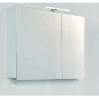Шкафчик-зеркало Devit Graphics, белый 800 мм