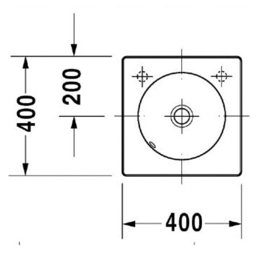 Раковина шлифованная Duravit Architec, 400 мм