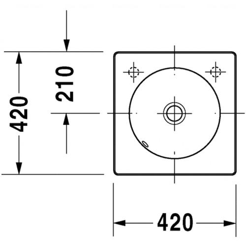 Раковина шлифованная Duravit Architec, 420 мм