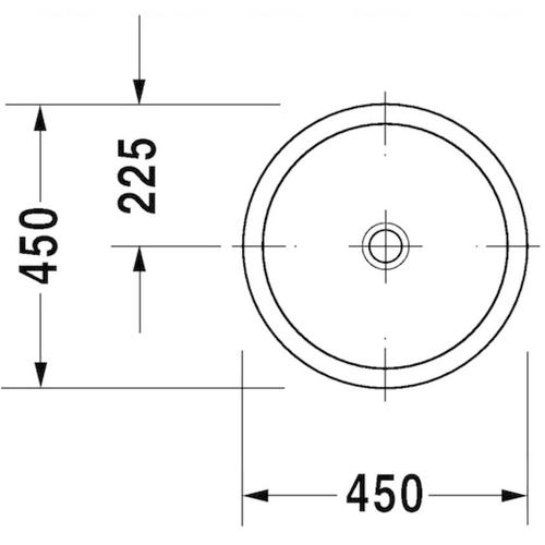 Умывальник встраиваемый Duravit Architec, 450 мм