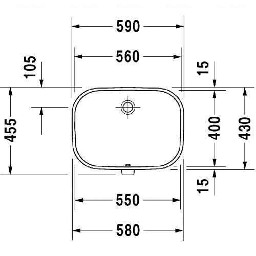 Умывальник встраиваемый Duravit D-Code, 560 мм