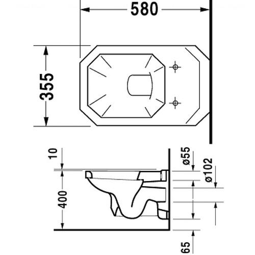 Унитаз подвесной Duravit Серия 1930, 355 мм
