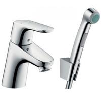 Смеситель для раковины с гигиеническим душем Hansgrohe Focus E