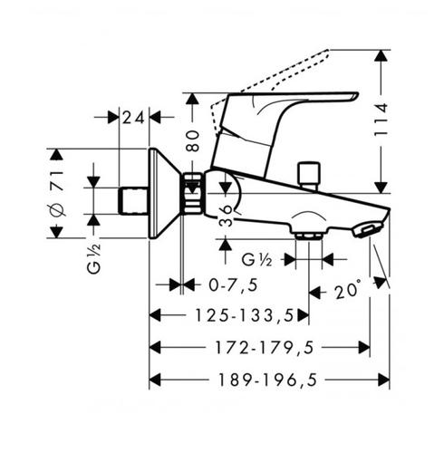 Смеситель для ванны и душа Hansgrohe Focus E2 31940000