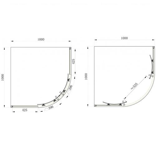 Душевой уголок Primera Frame 100 прозрачное стекло SHQC51106