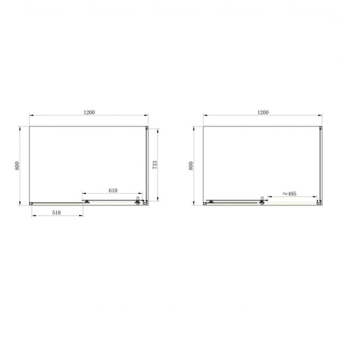 Душевой уголок Primera Frame 120, стекло шиншила
