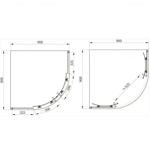 Душевой уголок Primera Frame 90 стекло шиншила SHQP51906