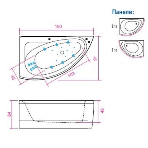 Ванна Balteco Idea 15 (Гидро S3)
