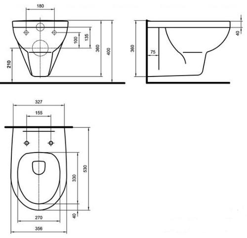 Комплект: унитаз Kolo Primo с сиденьем + инсталляция Imprese 3в1 (K83100001+i8120)