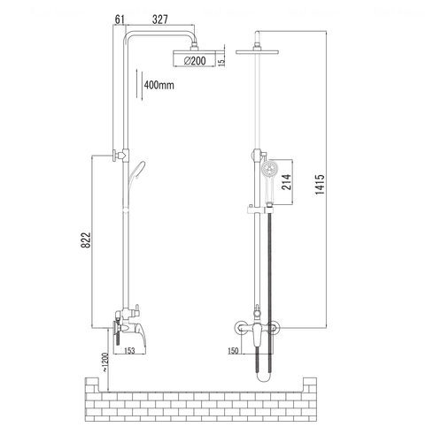 Душевая система Imprese Jesenik T-15140