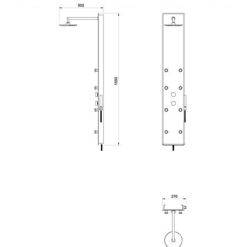 Гидромассажная душевая панель Ravak Jet Glass