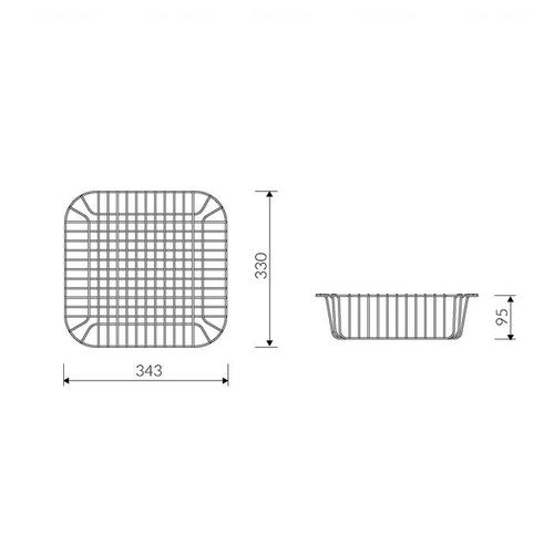 Коландер для кухонных моек Marmorin AKO (KA343)