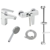 Набор смесителей для ванны и душа Genebre Klip 04KLD17RO