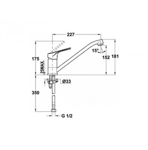 Смеситель для кухни Teka MT Plus L (MTP 913), хром 469130210