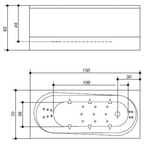 Ванна Balteco Modul 15 (SlimLine S11)