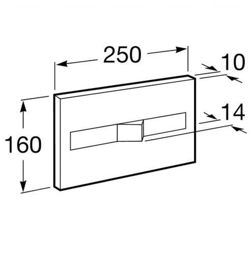 Кнопка смыва Roca Pro PL2 Dual хром матовый (890096002)