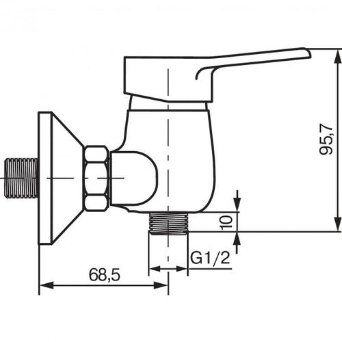 Смеситель для душа Koller Pool Round RN0400