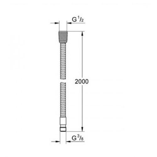 Душевой шланг Grohe Relexa 2000 мм