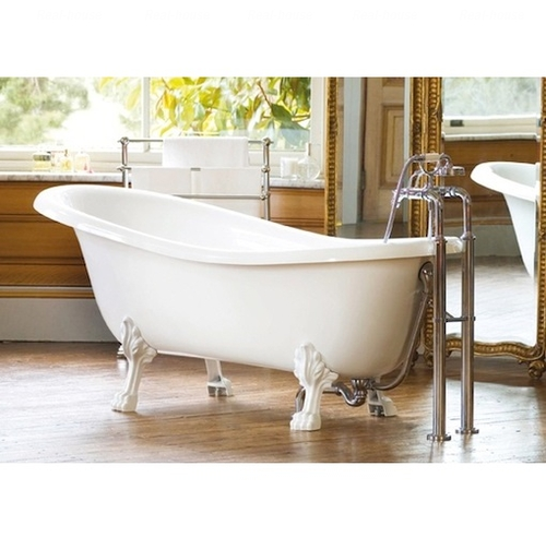 Ванна Fancy Marble Lady Hamilton 173, хромированный перелив