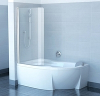 Штора для ванны Ravak Rosa CVSK1, Transparent сатин 1600/1700мм