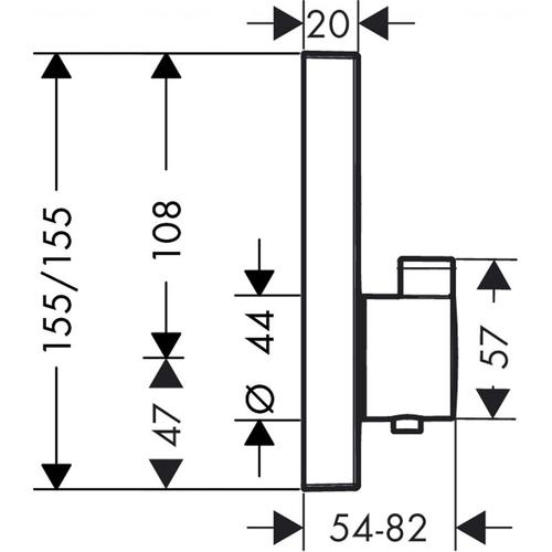 Смеситель-термостат для душа Hansgrohe Shower Select (15763000)