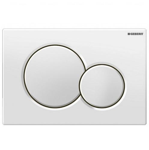 Кнопка смыва Geberit Sigma 01 белая белая