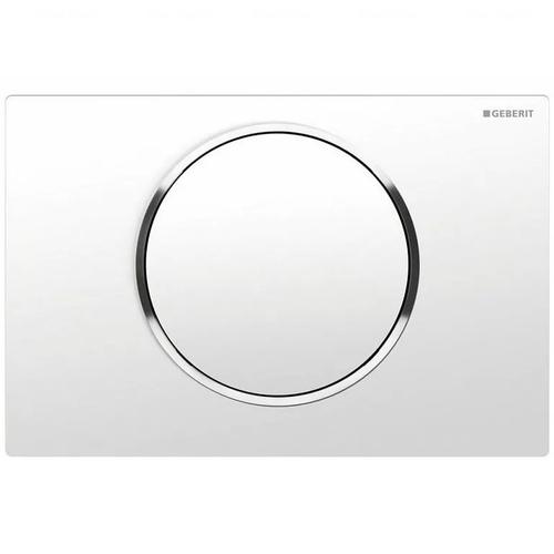 Кнопка смыва Geberit Sigma 10, с системой смыв-стоп, пластик белый/хром глянцевый/белый белый/хром глянцевый/белый
