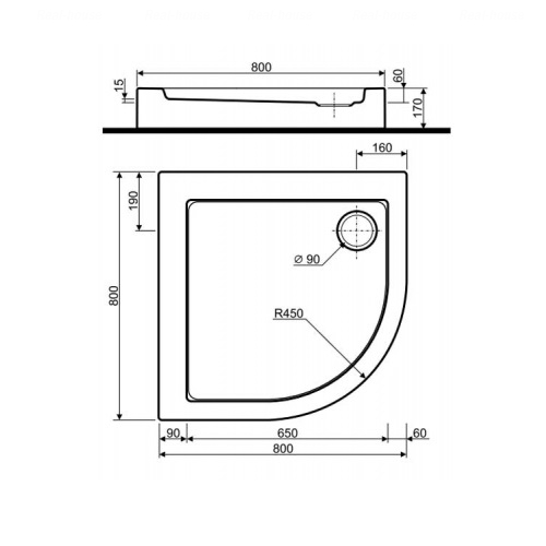 Душевой поддон Kolo Simplo 90х90 (XBN0691000)