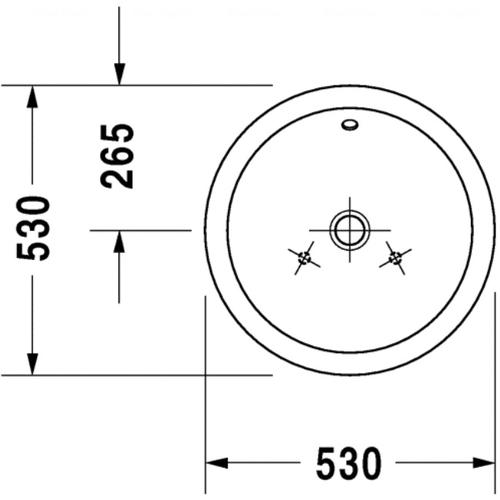 Раковина шлифованная Duravit Starck 1, 530 мм