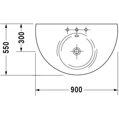 Умывальник Duravit Starck 1, 900 мм