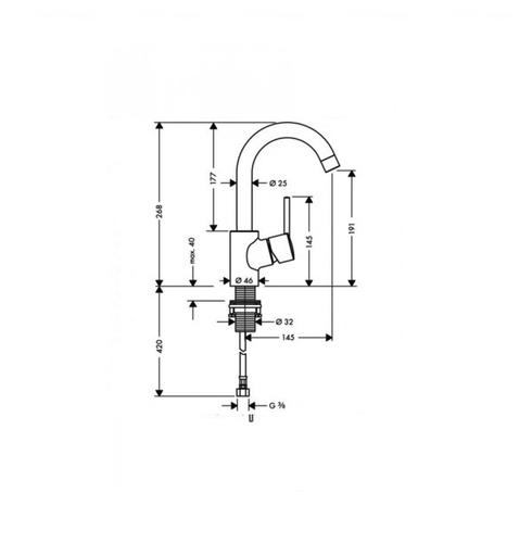 Смеситель для раковины Hansgrohe Talis S 32070000
